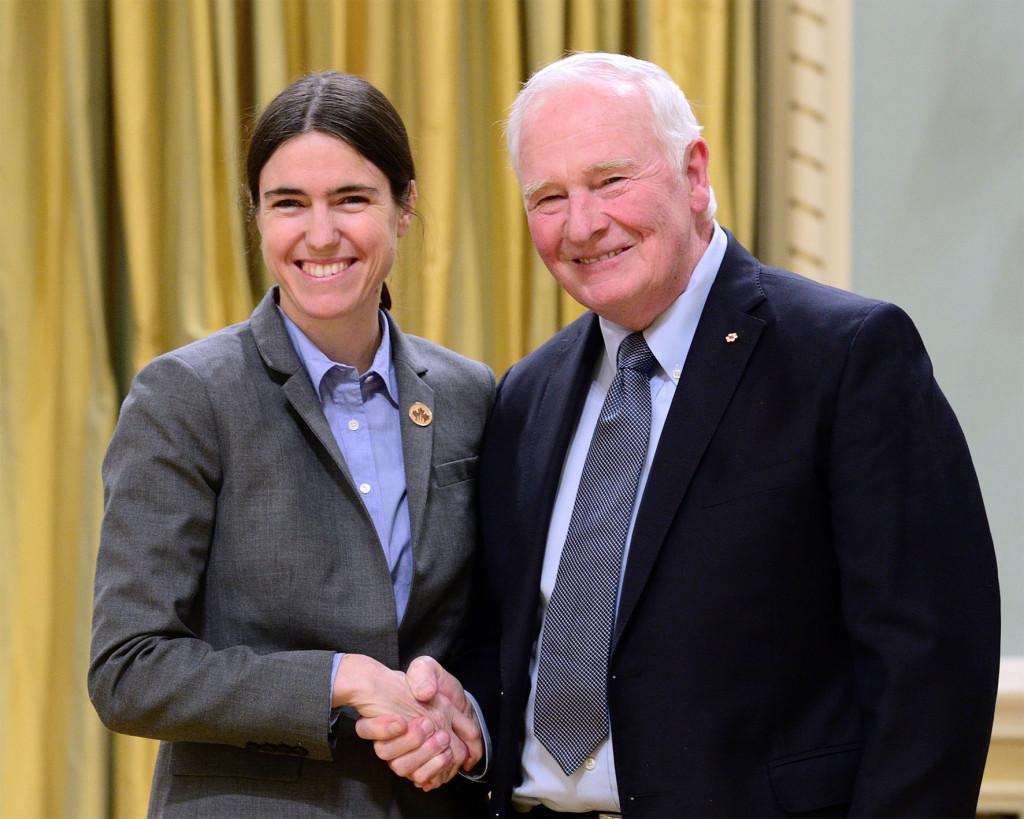 Raquel Urtasun, lauréate d'une Bourse commémorative E.W.R. Steacie à la cérémonie de remise des prix canadiens du CRSNG en recherche
