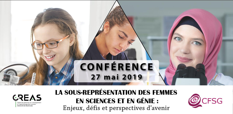 Conférence La sous-représentation des femmes en sciences et en génie : enjeux, défis et perspectives d'avenir