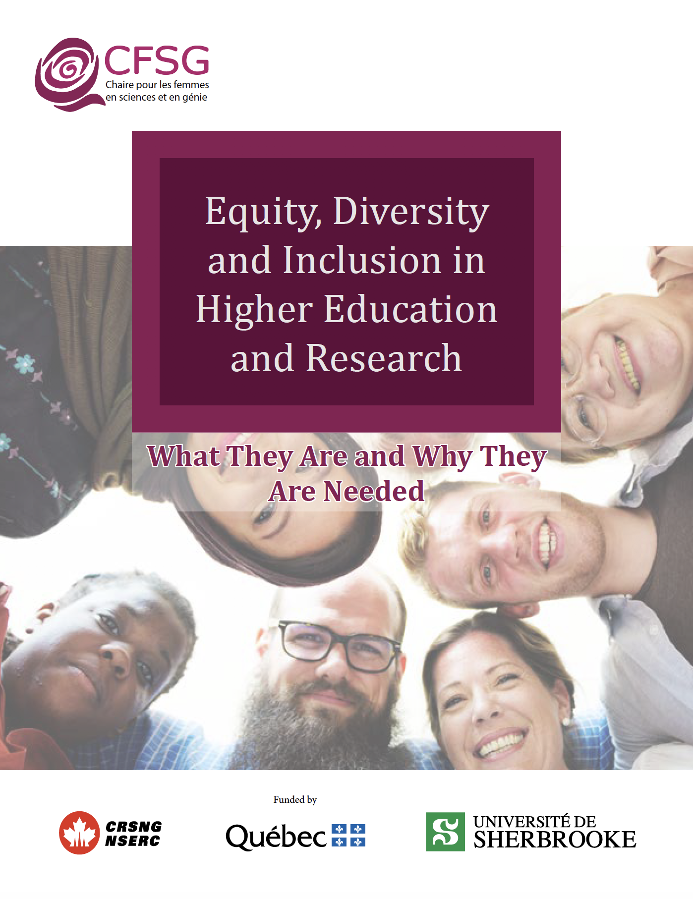 Equity, Diversity and Inclusion in Higher Education and Research: What They Are and Why They Are Needed