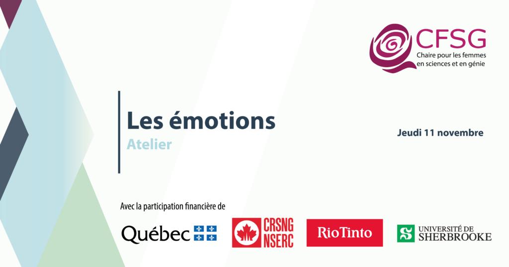 Atelier Les émotions : les reconnaître et les réguler