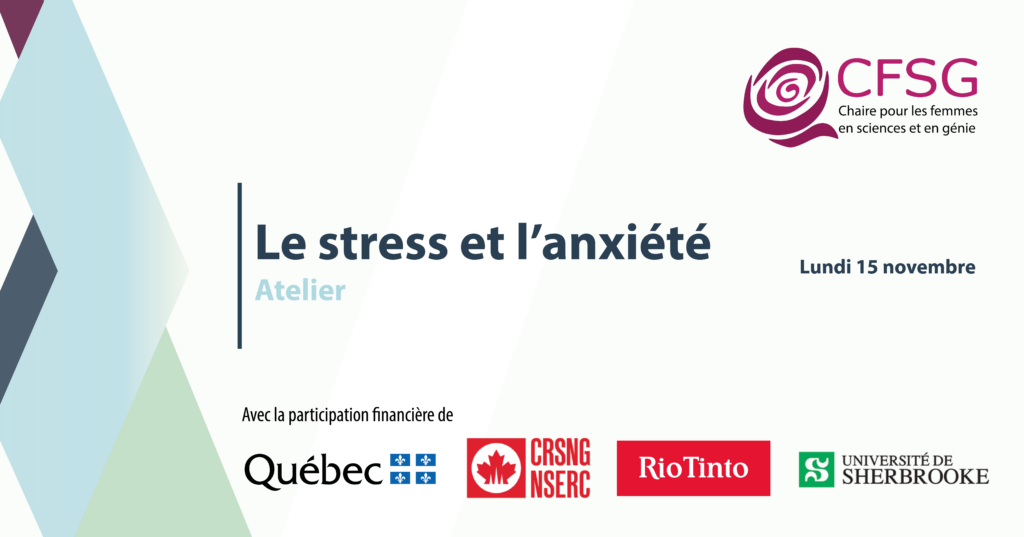 Atelier Le stress et l'anxiété : quels sont leurs impacts?