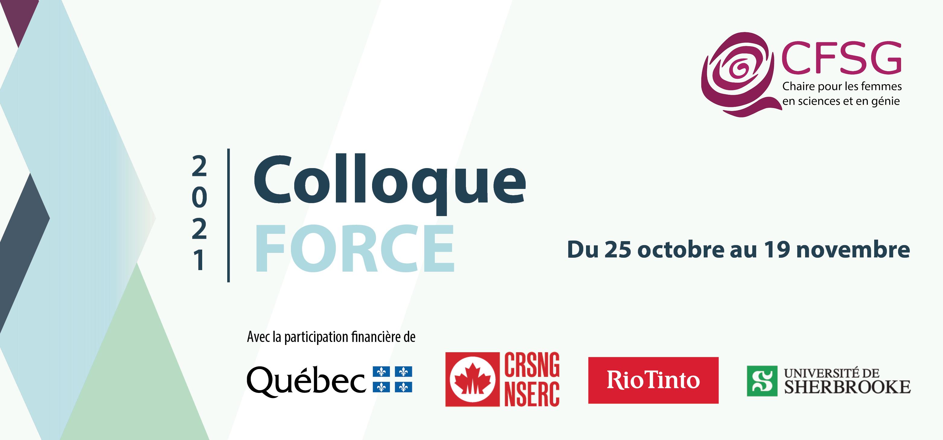 Colloque FORCE 2021 - Du 25 octobre au 19 novembre