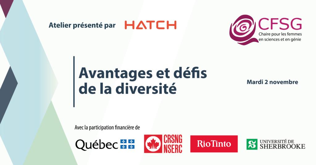 Atelier La diversité des genres en sciences et en génie : quels sont les avantages et les défis? - Présenté par Hatch